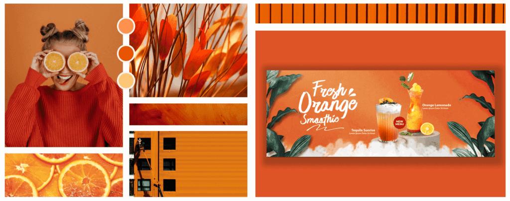 Farbpsychologie im Webdesign Farbe Orange