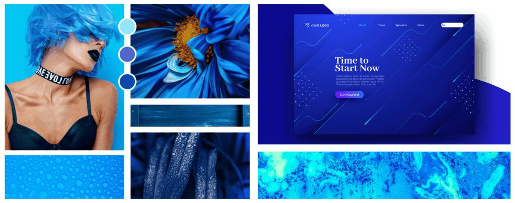 Farbpsychologie im Webdesign Farbe Blau