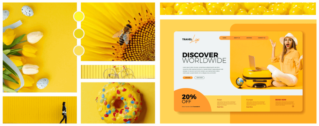 Farbpsychologie im Webdesign Farbe Gelb