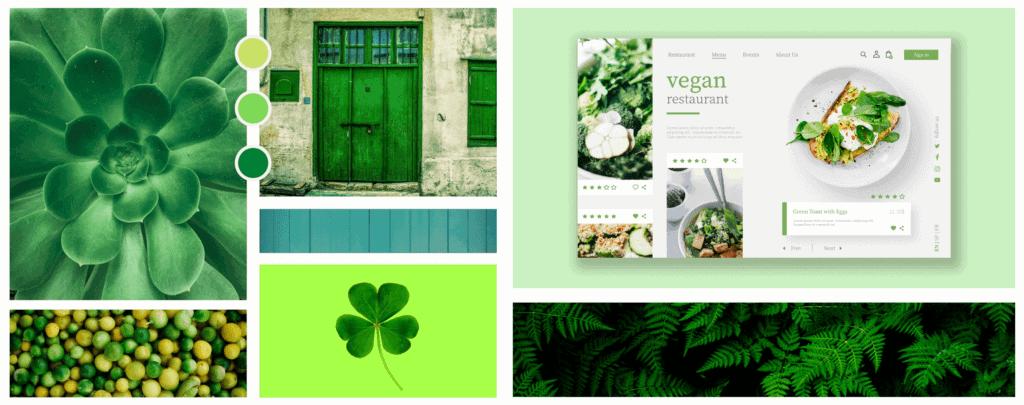 Farbpsychologie im Webdesign Farbe Grün