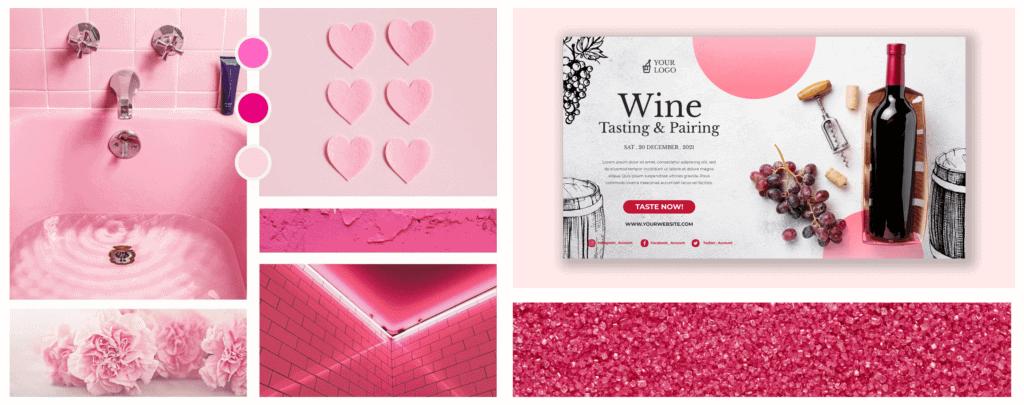 Farbpsychologie im Webdesign Rosa